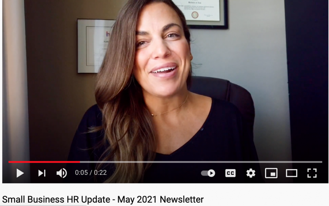Small Business HR Update – CYB Human Resources Newsletter May 2021